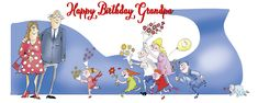 Happy Birthday Grandpa greeting card