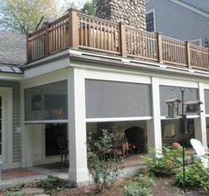 This is perfect!! porch & deck. Shade the underside of an elevated deck, attractively and efficiently, with retractable screens. | phantomscreens.com