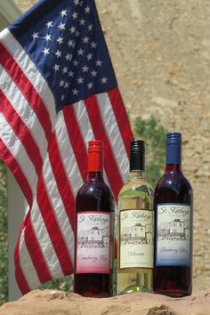 Our #StKathrynCellars red, white and blue wines! #oldglory #palisade #sharegj