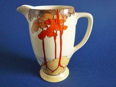 Clarice Cliff Bizarre 'Coral Firs' Coronet Jug c1933