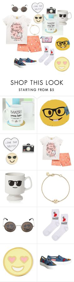 """Emojis!!!!"" by cheleniak ❤ liked on Polyvore featuring Design Lab, Emoji, Sparrow & Wren, Bing Bang, Jeremy Scott, Topshop, Stoney Clover Lane and Alice + Olivia"
