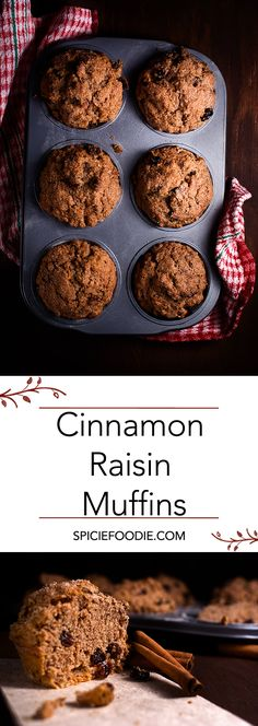 Cinnamon Raisin Muffins and My Problems with Baking. Simple and easy Cinnamon Raisin Muffins. Best Breakfast, Breakfast Dessert, Breakfast Muffins, Mini Muffins, Breakfast Potatoes, Breakfast Ideas, Breakfast Recipes, Raisin Muffins, Cinnamon Muffins