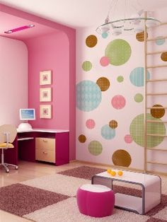 polka dot bedroom ideas | ... polka dot is just a right with the solid colors. Polka dots is a nice
