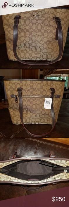 Coach Tote purse Nwt Coach Tote purse retails at $275. Coach Bags Totes