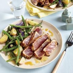 Tuna Steak Dinner Recipes is One Of the Favorite Dinner Of Numerous People Round the World. Besides Simple to Create and Excellent Taste, This Tuna Steak Dinner Recipes Also Healthy Indeed. Easy Tuna Steak Recipe, Tuna Steak Recipes, Salmon Recipes, Shellfish Recipes, Seafood Recipes, Steak Dinner Recipes, Grilling Recipes, Cooking Light Recipes, Tuna Steaks