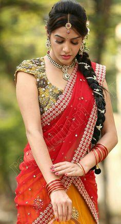 Fashion Girl Asian Sexy Dresses New Ideas India Beauty, Asian Beauty, Half Saree Lehenga, Saree Dress, Saree Hairstyles, Most Beautiful Indian Actress, Beautiful Saree, Indian Girls, Indian Wear