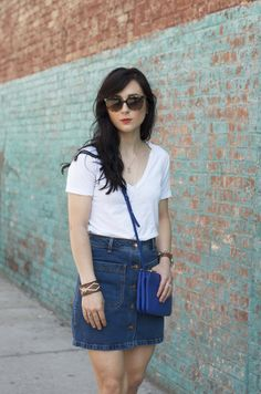 dreaming trees how to style a denim skirt look