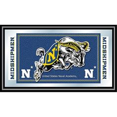 Trademark Global, Inc. United States Naval Academy Logo and Mascot Framed Mirror