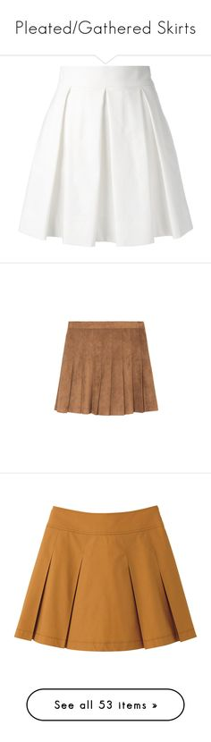 """""""Pleated/Gathered Skirts"""" by painterella ❤ liked on Polyvore featuring skirts, mini skirts, bottoms, saias, white, short white skirt, pleated miniskirt, white skirt, boutique moschino and short skirts"""