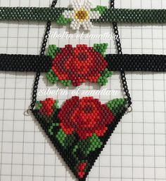 Bu güzellikler yarın Kayseri'ye hanıma 💠Beaded Bracelet Patterns, Bead Loom Patterns, Beading Patterns, Bead Jewellery, Seed Bead Jewelry, Seed Bead Earrings, Bead Crochet Rope, Native Beadwork, Fashion Moda