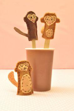Monkeys finger puppets 10 Little Monkeys Jumping on the Bes