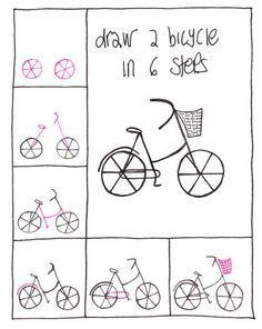 Desenho simples// bicicleta (Diy Step How To Paint)