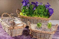Romantika venkova - Proutěný košík hranatý 3 velikosti