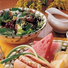 Hot Bacon-Mustard Dressing on spinach salad - Found my Thanksgiving Day salad recipe!