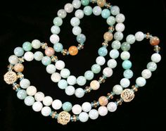 "43"" Dragon Skin Agate, Apatite & Citrine Necklace   -Designs by Dimitri, 12 NW 1st Ave, Dania Beach, FL 33004 954-920-3515.  Like us on Facebook!"