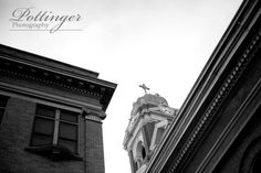One of our favorite locations for a wedding is The Bell Event Centre in downtown OTR Cincinnati. The history and grand scale of the building is so unique. The vintage look perfect for any wedding idea. Cincinnati wedding photography photo by Pottinger Photo www.pottingerphoto.com