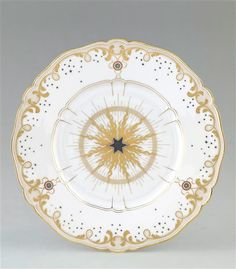 Plate from a service for the Elysée Palace - 19th C. manufacture de Sèvres