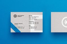 Visual Identity Concept for the Cine-Teatro Garrett Another Collective is the name of a young design studio from Porto, Portugal. They developed this visual identity proposal for the Cine-Teatro. Cool Business Cards, Business Card Design, Brand Identity Design, Branding Design, Name Card Design, Bussiness Card, Behance, Name Cards, Stationery Design