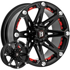 BALLISTIC® - 814 JESTER Flat Black with Red Inserts. The wheel can be ordered in diameters. Choose your rim width, offset, bolt pattern and hub diameter from the option list. Tacoma Wheels, Truck Wheels, Jeep Wheels And Tires, E91 Touring, Off Road Wheels, Wheel And Tire Packages, Rims For Cars, Rims For Trucks, Aftermarket Wheels