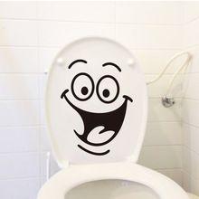 Mosoly arc WC matricák DIY személyre szabott bútorok dekoráció fali matricák…