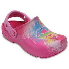 Crocs DC Comics Supergirl Girls' Clogs, Size: 10 T, Red Other