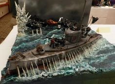 Ork Submarine Diorama by unknown    https://www.facebook.com/pages/LEXICANUM/125326137488784