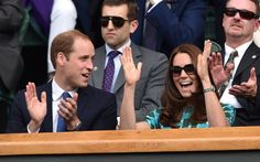 Pin for Later: 19 Times the Duke and Duchess of Cambridge Showed Love During Sporting Events  Kate and Will cheered in unison while watching the Wimbledon Championships in July 2014.
