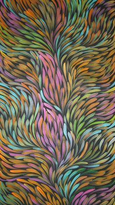art & australian aboriginal indigenous - Gloria Petyarre by shelia Aboriginal Painting, Dot Painting, Encaustic Painting, Gloria Petyarre, Australian Art, Aboriginal Art Australian, Indigenous Art, Arte Pop, Background Patterns