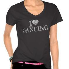 I love Dancing - I heart dancing shirt (more styles available) #dance #shirt