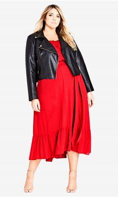 Shop Women's Plus Size Red Off Shoulder Dress | City Chic USA