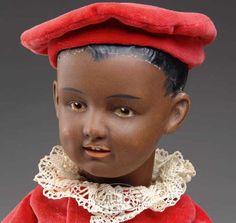 Heubach Gebr. Dolls Brown bisque character boy 7620