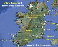 Viking towns and placenames in Ireland.The Vikings founded the first Irish towns of Dublin, Wexford, Waterford, Limerick, and Cork. In fact prior to their arrival there were no towns in Ireland only rich Ecclesiastical settlements