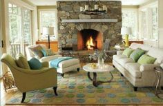 living room layout with fireplace and tv on opposite walls - Google Search