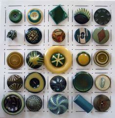 Celluloid Art Deco Sewing Buttons.