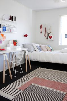 bedroom with office