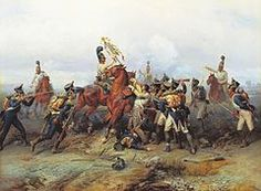 Napoleonic Wars, the Battle of Austerlitz, December 2, 1805 – Capture of a French regiment's eagle by the cavalry of the Russian guard, by Bogdan Willewalde (1884)