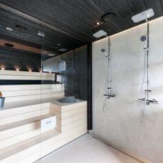 Sauna House, Sauna Design, Finnish Sauna, Tiles, Bathtub, Bathroom, Saunas, Barn, David