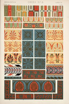 """Image Plate from Owen Jones' 1853 classic, """"The Grammar of Ornament"""". by EricGjerde, via Flickr"""