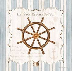 Ship Wheel by Danielle Murray for Art in Motion Nautical Home Decor Art Print