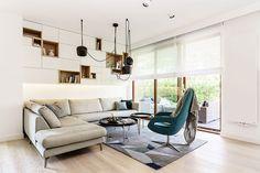 Beautiful minimalist apartment designed by Design Studio Dragon Art located in Gdynia, Poland..