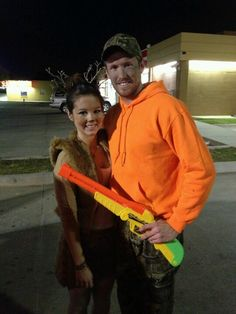 Hunter and a deer... Couple costume