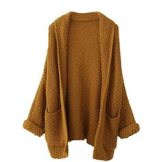 Blackfive Batwing Sleeves Open Front Md-long Cardigan