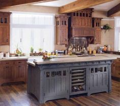 We've bought a house with '60s birch cabinets, and I plan to have them professionally stripped and refinished. In my current house I have wooden countertops on white cabinets, which I LOVE, and I wanted to have those countertops again in the new place. I was thinking about a soft white or maybe a Gu...