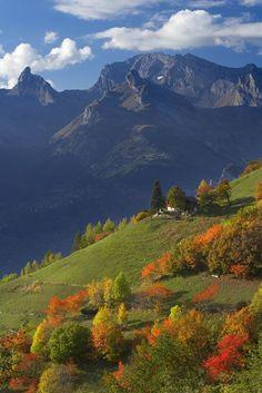 automne, La Valais, vallée du Rhône, Sion, Suisse