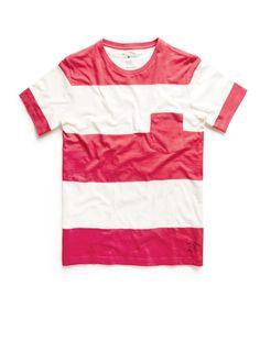 camiseta de rayas color rosado por 19,99€ en mango #clausaclothes #mango