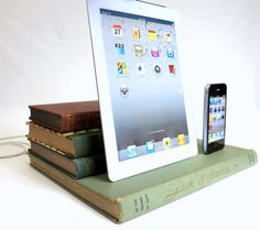 All Naturalist   Vintage books for iPad and by RichNeeleyDesigns...charging station