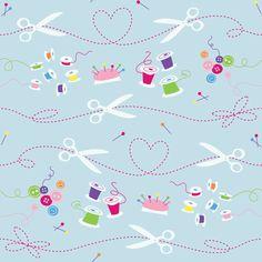 Sew Cute fabric by gobennygo on Spoonflower - custom fabric