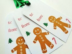 Gingerbread Man Christmas Tags Baked Goods Tag Holiday To From by PapergirlStudios on Etsy https://www.etsy.com/listing/252047964/gingerbread-man-christmas-tags-baked