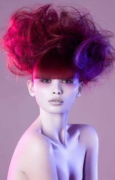 Red and purple hair #bright #hair #dye