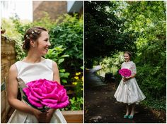 Chris and Katie's Relaxed, Joyful, Colourful and Fun Hackney Wedding by Jonny Barratt Non Flower Bouquets, Boho Wedding, Wedding Blog, Joyful, Beautiful Bride, Brides, Tulle, Weddings, Tips